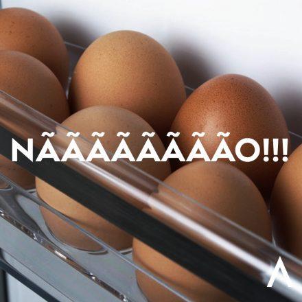 Ovos na porta da geladeira?